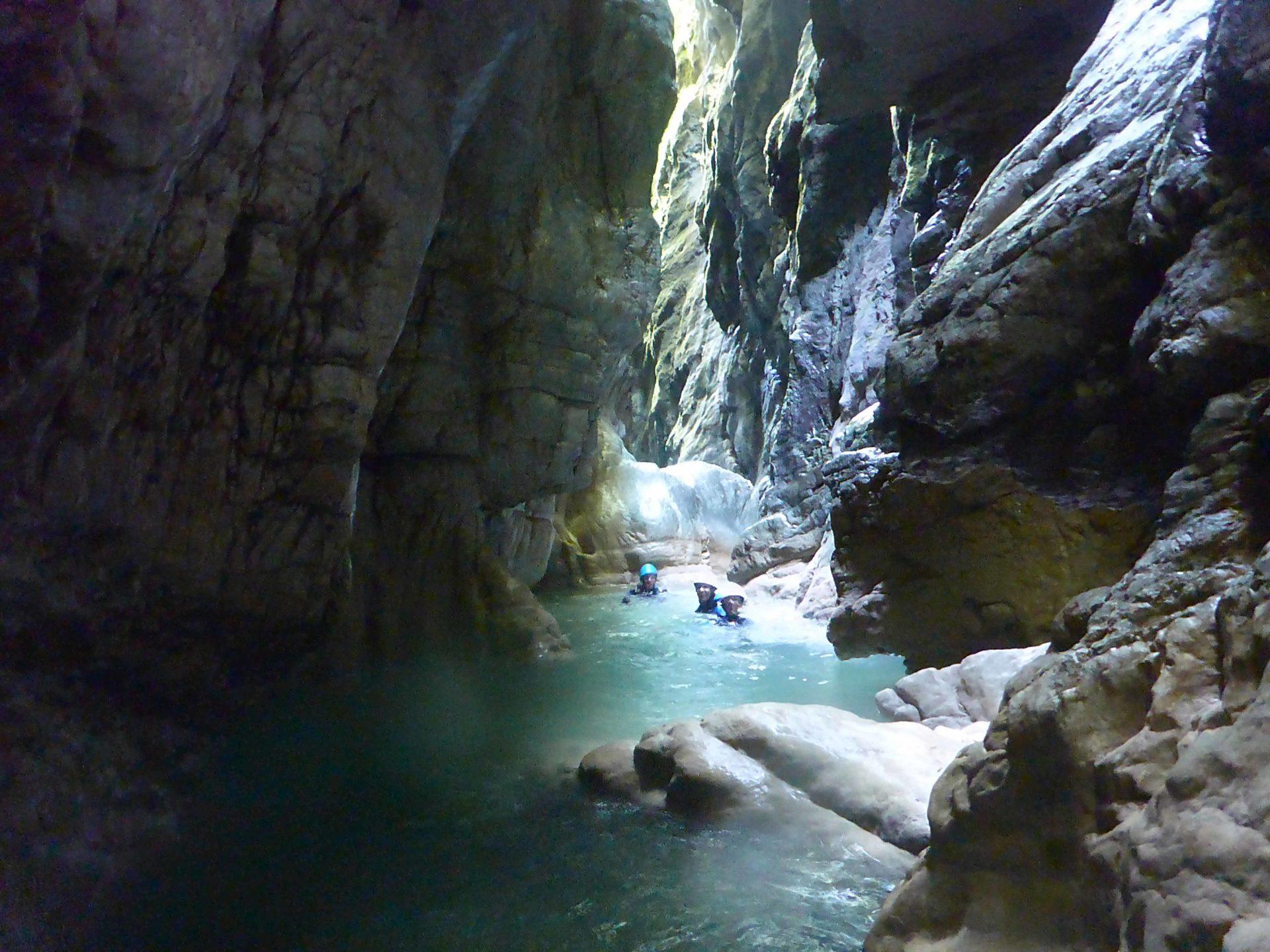 canyoning geopark des bauges