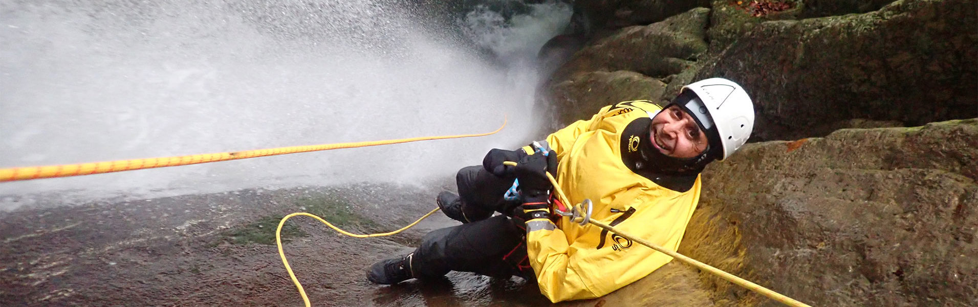 canyoning hivernal au lac d'Annecy