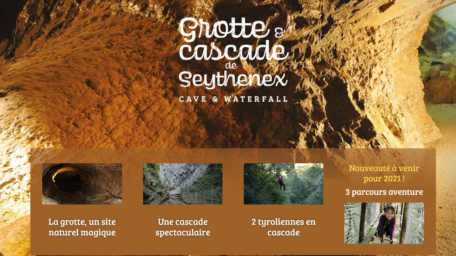 Grotte et cascade