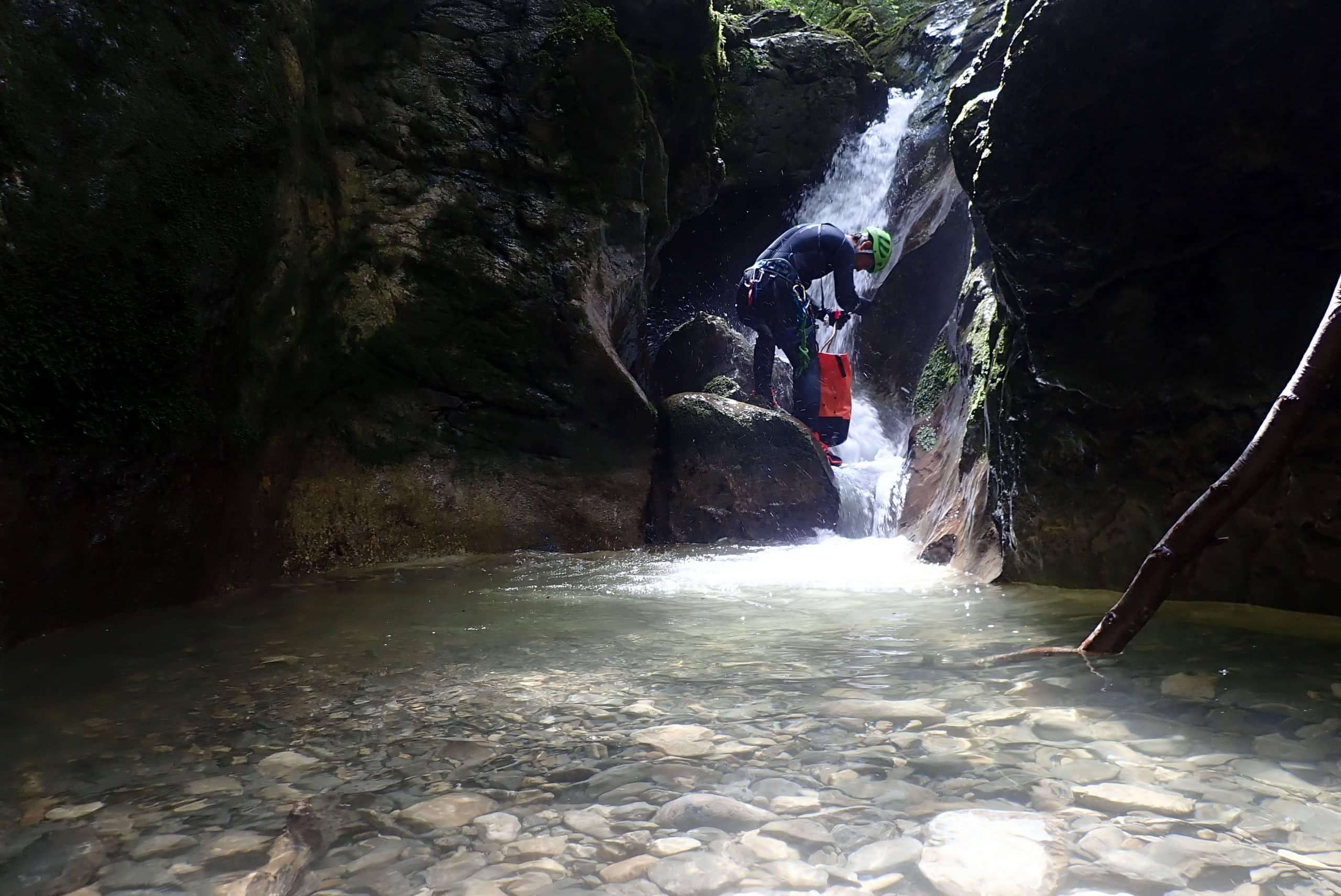Canyoning dans le massif des bauges